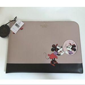 Kate spade Minnie Mouse laptop case beige black